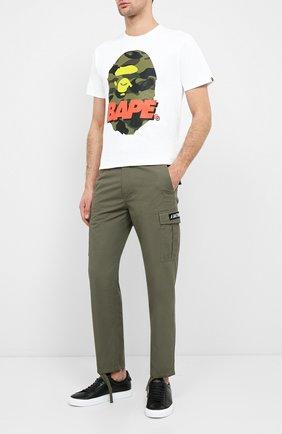 Мужская хлопковая футболка BAPE белого цвета, арт. 1F20110096 | Фото 2
