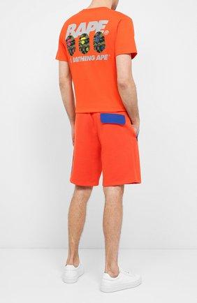 Мужская хлопковая футболка BAPE оранжевого цвета, арт. 1F20110095   Фото 2