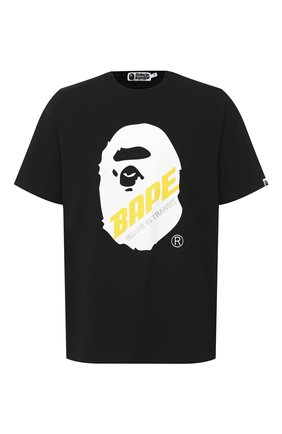 Мужская хлопковая футболка BAPE черного цвета, арт. 1F20109088 | Фото 1