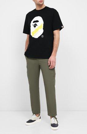 Мужская хлопковая футболка BAPE черного цвета, арт. 1F20109088 | Фото 2