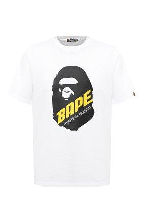 Мужская хлопковая футболка BAPE белого цвета, арт. 1F20109088 | Фото 1