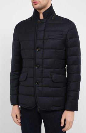 Мужская пуховая куртка zayn-l MOORER темно-синего цвета, арт. ZAYN-L/A20M040LANA | Фото 3
