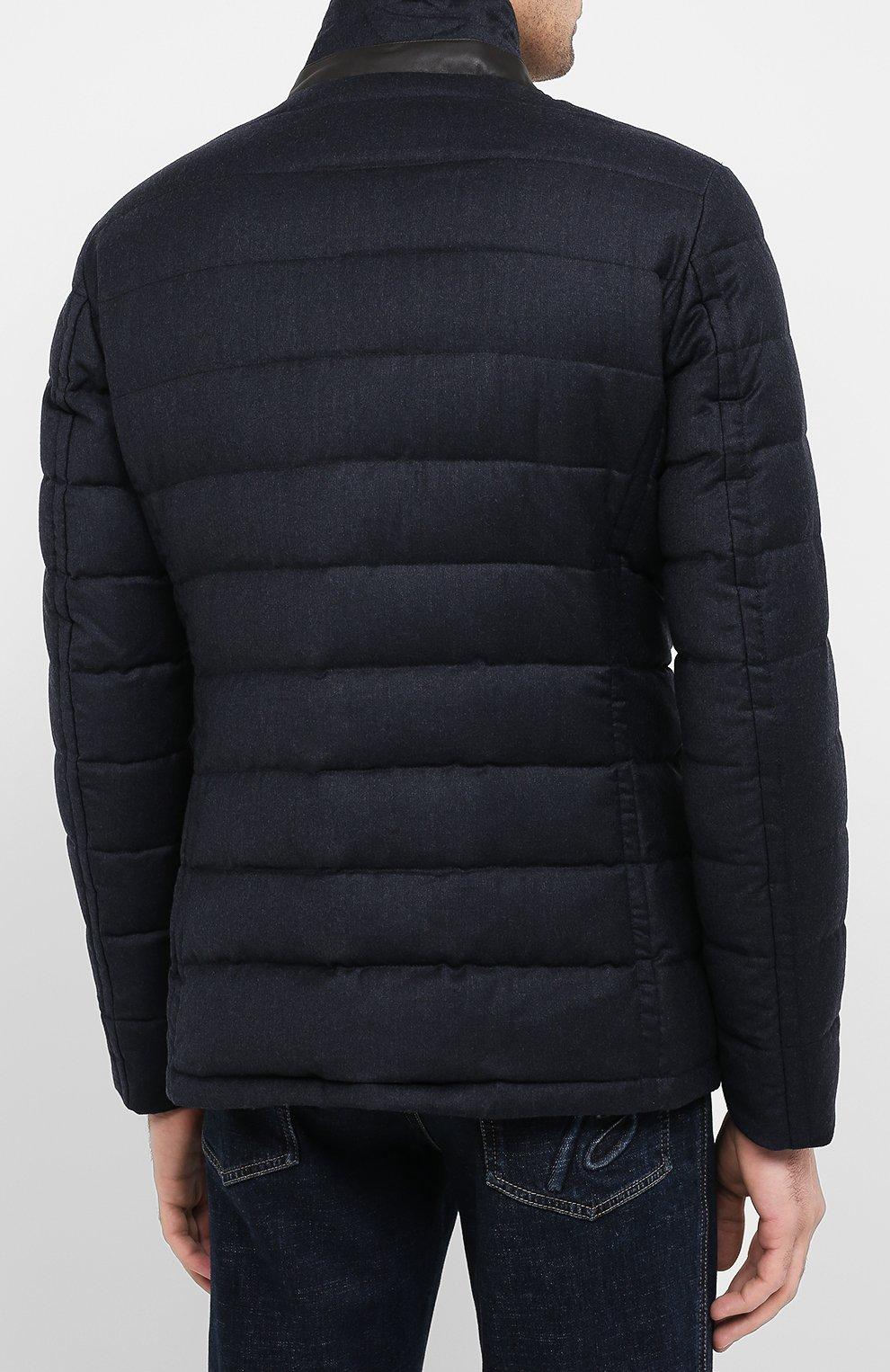 Мужская пуховая куртка zayn-l MOORER темно-синего цвета, арт. ZAYN-L/A20M040LANA | Фото 4