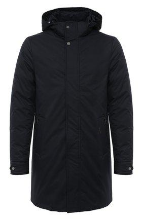 Мужская пуховое пальто MOORER темно-синего цвета, арт. VERM0NT-ADS/A20M130AMED | Фото 1