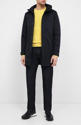 Мужская пуховое пальто MOORER темно-синего цвета, арт. VERM0NT-ADS/A20M130AMED | Фото 2