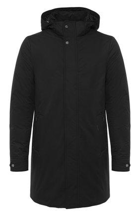 Мужская пуховое пальто MOORER черного цвета, арт. VERM0NT-ADS/A20M130AMED | Фото 1