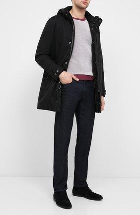 Мужская пуховое пальто MOORER черного цвета, арт. VERM0NT-ADS/A20M130AMED | Фото 2