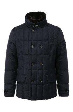 Мужская пуховая куртка siro-l MOORER темно-синего цвета, арт. SIR0-L/A20M021LANA | Фото 1