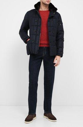 Мужская пуховая куртка siro-l MOORER темно-синего цвета, арт. SIR0-L/A20M021LANA | Фото 2