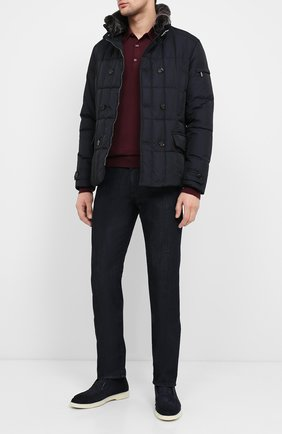 Мужская пуховая куртка siro-km MOORER темно-синего цвета, арт. SIR0-KM/A20M020SHA1 | Фото 2