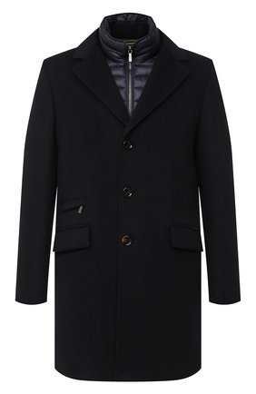 Мужской шерстяное пальто harris-le MOORER темно-синего цвета, арт. HARRIS-LE/A20M090LEN0 | Фото 1