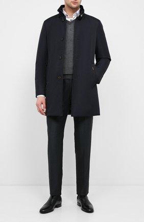Мужская пуховое пальто MOORER темно-синего цвета, арт. B0ND-WI/A20M061WIND | Фото 2