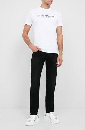 Мужские джинсы EMPORIO ARMANI черного цвета, арт. 6H1J06/1DM1Z | Фото 2