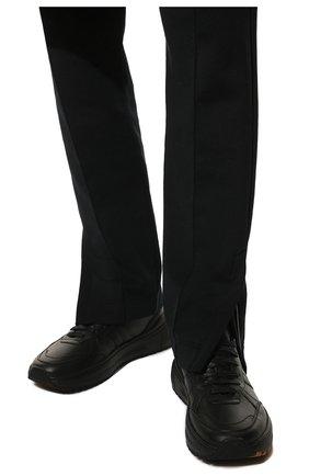 Мужские кожаные кроссовки BOTTEGA VENETA черного цвета, арт. 565646/VT040 | Фото 3 (Материал внутренний: Натуральная кожа; Стили: Классический; Подошва: Массивная)