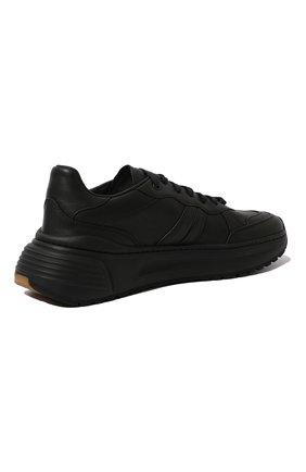 Мужские кожаные кроссовки BOTTEGA VENETA черного цвета, арт. 565646/VT040 | Фото 5 (Материал внутренний: Натуральная кожа; Стили: Классический; Подошва: Массивная)