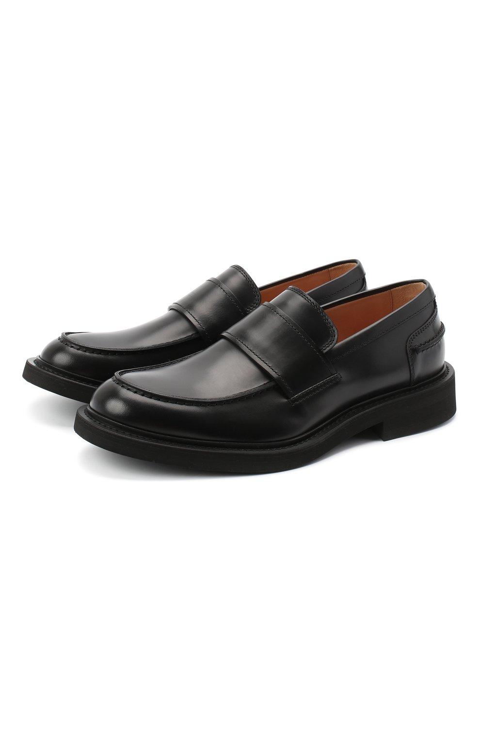Мужские кожаные лоферы bv level BOTTEGA VENETA черного цвета, арт. 631300/VBS30   Фото 1 (Мужское Кросс-КТ: Лоферы-обувь; Материал внутренний: Натуральная кожа; Стили: Кэжуэл)
