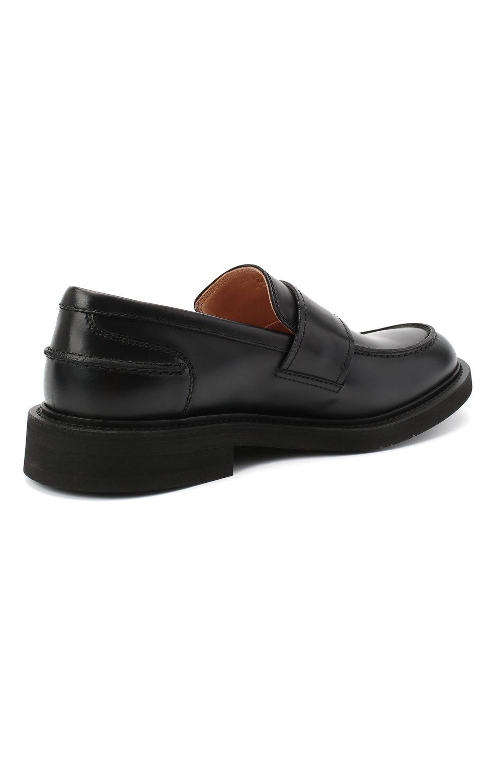 Мужские кожаные лоферы bv level BOTTEGA VENETA черного цвета, арт. 631300/VBS30   Фото 4 (Мужское Кросс-КТ: Лоферы-обувь; Материал внутренний: Натуральная кожа; Стили: Кэжуэл)