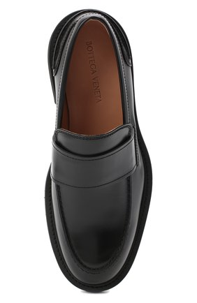 Мужские кожаные лоферы bv level BOTTEGA VENETA черного цвета, арт. 631300/VBS30   Фото 5 (Мужское Кросс-КТ: Лоферы-обувь; Материал внутренний: Натуральная кожа; Стили: Кэжуэл)