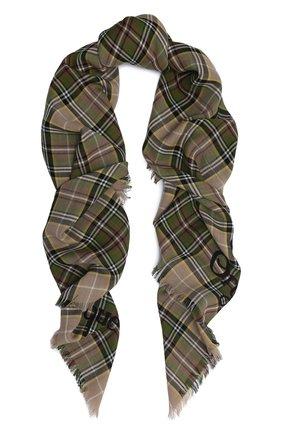 Мужской шерстяной шарф checky gailes GUCCI бежевого цвета, арт. 620547/4G200 | Фото 1