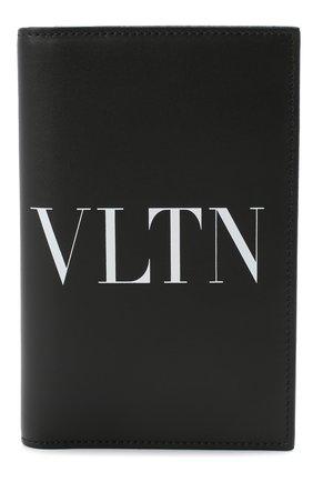 Мужская кожаная обложка для паспорта valentino garavani VALENTINO черного цвета, арт. UY2P0588/LVN | Фото 1