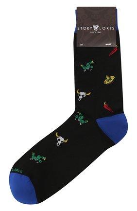 Мужские хлопковые носки STORY LORIS черного цвета, арт. 5883 | Фото 1