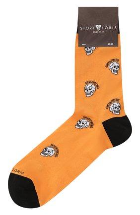 Мужские хлопковые носки STORY LORIS оранжевого цвета, арт. 5865 | Фото 1
