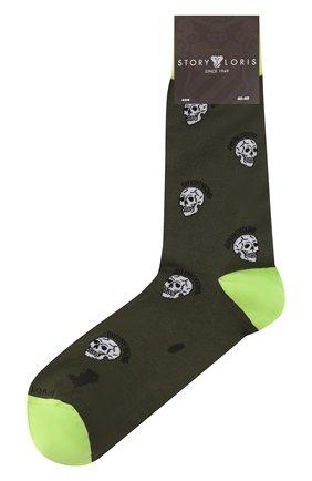 Мужские хлопковые носки STORY LORIS хаки цвета, арт. 5865 | Фото 1