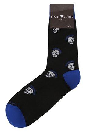 Мужские хлопковые носки STORY LORIS черного цвета, арт. 5865 | Фото 1