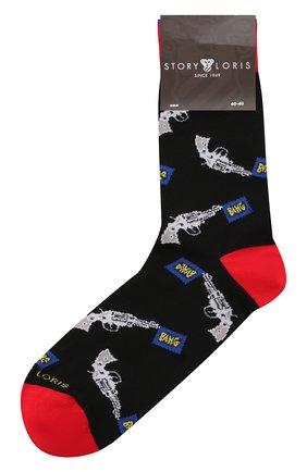 Мужские хлопковые носки STORY LORIS черного цвета, арт. 5853 | Фото 1