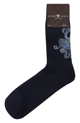 Мужские хлопковые носки STORY LORIS темно-синего цвета, арт. 5135 | Фото 1