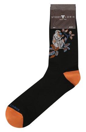 Мужские хлопковые носки STORY LORIS черного цвета, арт. 5127 | Фото 1