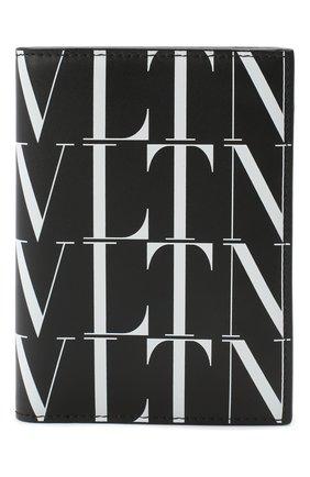 Мужская кожаная обложка для паспорта valentino garavani VALENTINO черно-белого цвета, арт. UY2P0R66/GTC | Фото 1