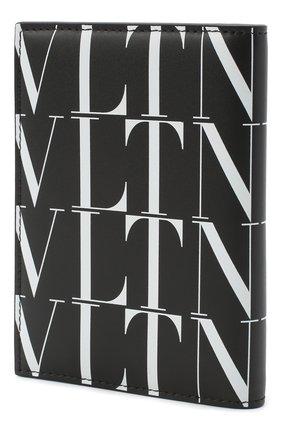 Мужская кожаная обложка для паспорта valentino garavani VALENTINO черно-белого цвета, арт. UY2P0R66/GTC | Фото 2