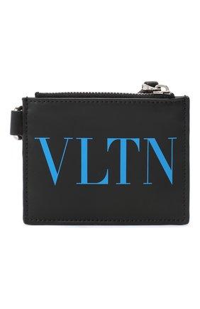 Мужской кожаный футляр для кредитных карт valentino garavani VALENTINO черного цвета, арт. UY2P0R10/SQH | Фото 1