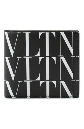 Мужской кожаное портмоне valentino garavani VALENTINO черно-белого цвета, арт. UY2P0654/GTC | Фото 1