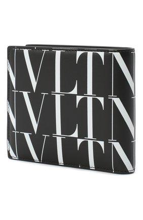 Мужской кожаное портмоне valentino garavani VALENTINO черно-белого цвета, арт. UY2P0654/GTC | Фото 2