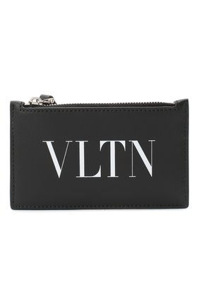 Мужской кожаный футляр для кредитных карт valentino garavani VALENTINO черного цвета, арт. UY2P0540/LVN | Фото 1