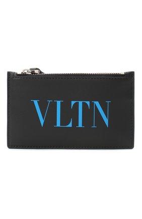 Мужской кожаный футляр для кредитных карт valentino garavani VALENTINO черного цвета, арт. UY2P0540/JEY | Фото 1