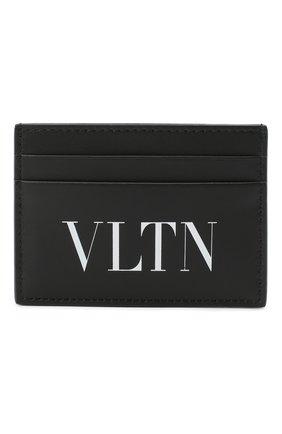 Мужской кожаный футляр для кредитных карт valentino garavani VALENTINO черного цвета, арт. UY2P0448/LVN | Фото 1