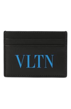 Мужской кожаный футляр для кредитных карт valentino garavani VALENTINO черного цвета, арт. UY2P0448/JEY | Фото 1