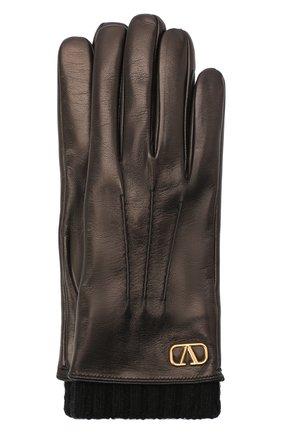 Мужские кожаные перчатки valentino garavani VALENTINO черного цвета, арт. UY2GDA05/ETX | Фото 1