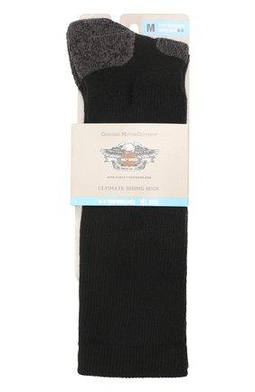 Женские хлопковые носки HARLEY-DAVIDSON черного цвета, арт. 89975870   Фото 1