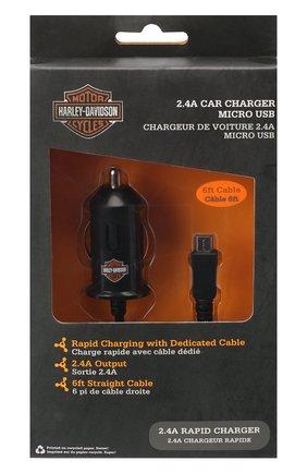 Мужского автомобильное зарядное устройство HARLEY-DAVIDSON черного цвета, арт. 7782 | Фото 1