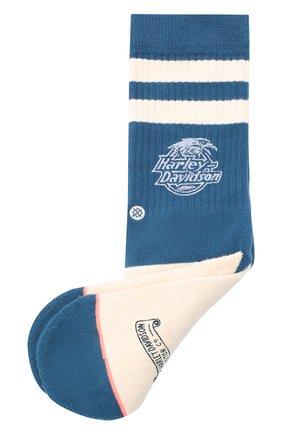 Женские хлопковые носки HARLEY-DAVIDSON голубого цвета, арт. HARLEY DAVIDSON 4 (FW18)   Фото 1