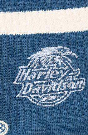 Женские хлопковые носки HARLEY-DAVIDSON голубого цвета, арт. HARLEY DAVIDSON 4 (FW18)   Фото 2