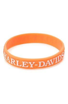 Женская браслет силиконовый HARLEY-DAVIDSON оранжевого цвета, арт. WB132538 | Фото 1