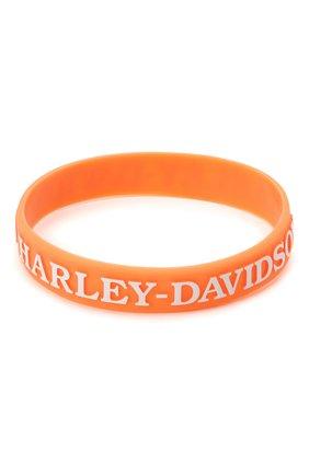 Женский браслет силиконовый HARLEY-DAVIDSON оранжевого цвета, арт. WB132538 | Фото 2