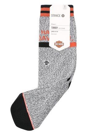 Женские хлопковые носки HARLEY-DAVIDSON серого цвета, арт. W525D18CLH | Фото 1