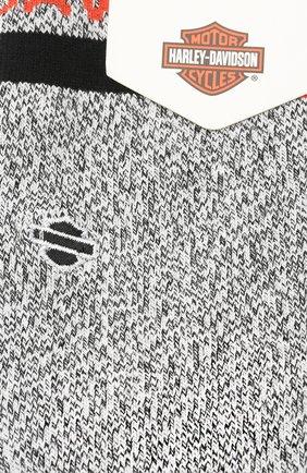Женские хлопковые носки HARLEY-DAVIDSON серого цвета, арт. W525D18CLH | Фото 2