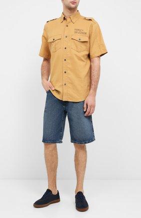 Мужские джинсовые шорты genuine motorclothes HARLEY-DAVIDSON синего цвета, арт. 96701-12VM   Фото 2